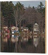 Finn Village On Demond Pond - Rutland Massachusetts Wood Print