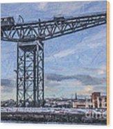 Finnieston Crane Glasgow Wood Print