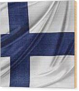 Finnish Flag Wood Print