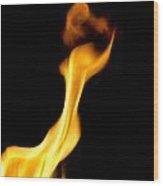 Fire 002 Wood Print