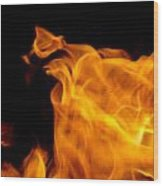 Fire 006 Wood Print