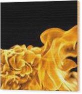 Fire 016 Wood Print