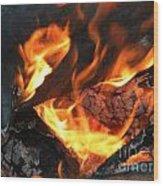 Fire 1 Wood Print