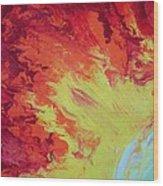 Fire And Glory Wood Print