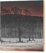 Fire And Ice Wood Print