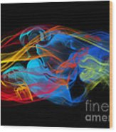 Fire And Ice Smoke  Wood Print