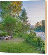 Fire And Water At Cottonwood Cottage Wood Print