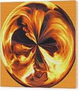 Fire Ball Wood Print