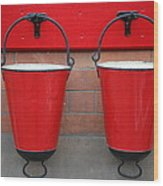 Fire Buckets Wood Print