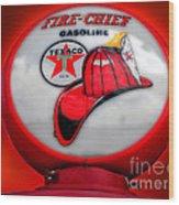 Fire Chief Gasoline Globe Wood Print