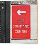 Fire Command Centre Wood Print