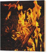 Fire Dance Wood Print by BandC  Photography