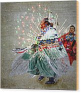 fire Dance Wood Print by Irma BACKELANT GALLERIES