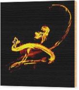 Fire Dancer 3 Wood Print
