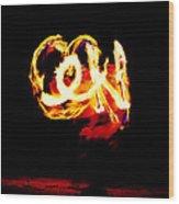 Fire Dancer 4 Wood Print
