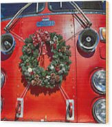 Fire Department Christmas 1 Wood Print