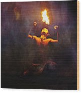 Fire Eater Wood Print