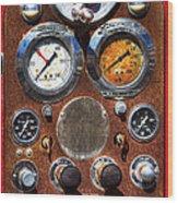 Fire Engine Gauges Wood Print