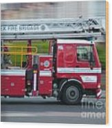 Fire Engine Wood Print