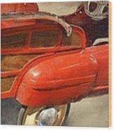 Fire Engine Pedal Car Wood Print