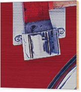 Fire Engine Red And Chrome Wood Print