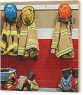 Fire Equipment At Rest Wood Print