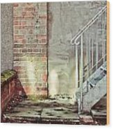 Fire Escape Stairs Wood Print
