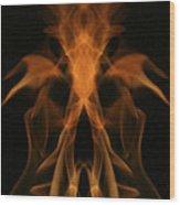 Fire Ghost Wood Print