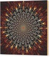 Fire Glyph Wood Print