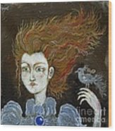 Fire Haired  Girl Wood Print