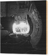 Fire In The Hole Bw Wood Print