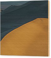 Fire In The Sand Wood Print