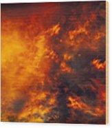 Fire In The Skies Wood Print