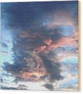 Fire In The Sky - 1 Wood Print