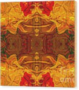 Fire In The Sky Abstract Pattern Artwork Wood Print
