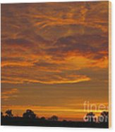 Fire In The Sky Wood Print by Ann Horn