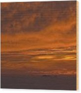 Fire In The Sky At Sunset Over The Gulf Of The Farallones Wood Print