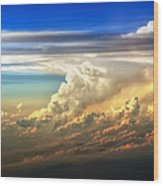 Fire In The Sky From 35000 Feet Wood Print by Scott Norris