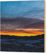 Fire In The Sky - Steamboat Sunset Wood Print