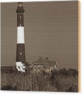 Fire Island Lighthouse Wood Print by Skip Willits
