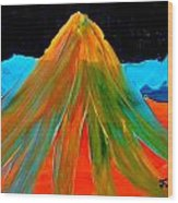 Fire Mountain 2 Wood Print