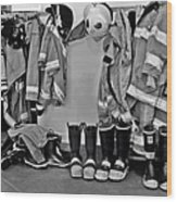 Fire Museum Beaumont Tx Wood Print by Christine Till