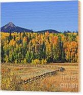 Fire On The Mountain Wood Print by Dana Kern