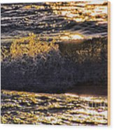 Fire On The Water Wood Print