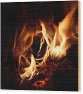 Fire Portal Wood Print