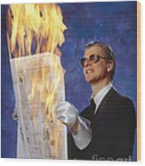 Fire Reader Wood Print