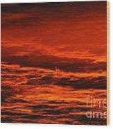 Fire Reds Sunset Wood Print by Rebecca Christine Cardenas