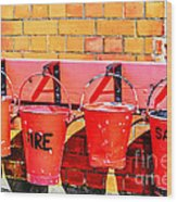 Fire Safety Wood Print
