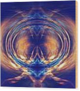 Fire Spin 1 Wood Print