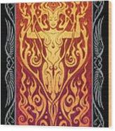 Fire Spirit V.2 Wood Print by Cristina McAllister